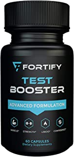 Fortify Supplements - Test Booster Advanced Formulation (60 Caps) - Clinically Dosed Testosterone Booster for Men - Male E...