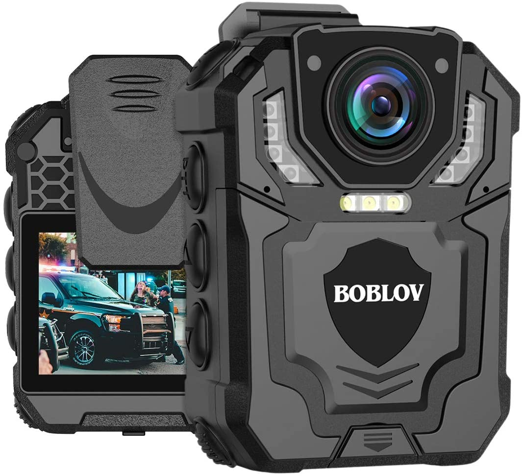 BOBLOV T5 128GB/64GB 1296P Body Camera with Audio Recording Expand Memory Supported Max 128G, Wearable Police Body Camera for Law Enforcement, Night Vision, File Protection (128GB)