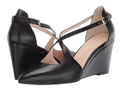 Cole Haan Emberlee Wedge 80 mm (Black Leather) Women