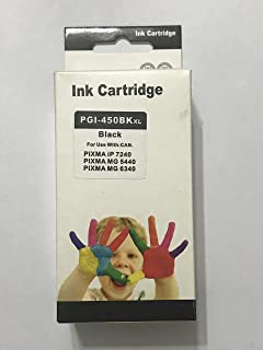 ink 450 bk comptable with printer canon ip7240-ix6840-mg5640