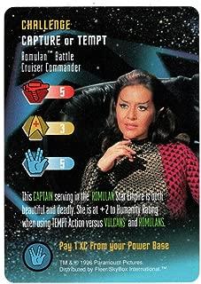 Romulan Battle Cruiser Commander - Star Trek: The Card Game (Trading Card) Challenge Capture or Tempt - Skybox 1996 Mint