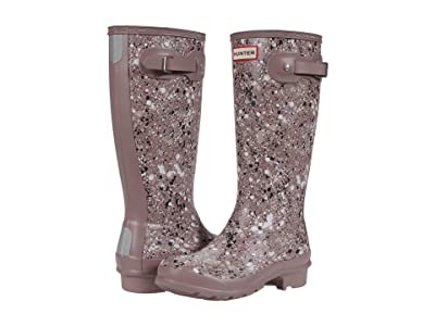 Hunter Kids Original Particle Print Wellington Boots (Little Kid/Big Kid) (Atlantis) Kid