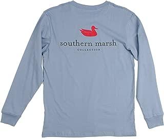 Southern Marsh Light Blue Authentic Long Sleeve T-shirt-xxl