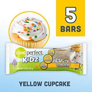 ZonePerfect Kidz Nutrition Bars, No Artificial Flavors or Colors, Yellow Cupcake, 1.23 oz, 5 Count