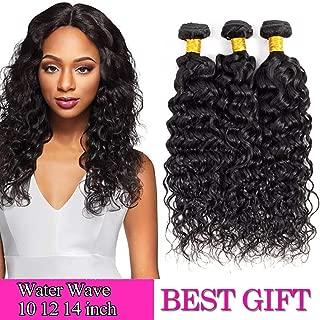 8A Water Hair Bundles 10 12 14 inch Brazilian Water wave Human Hair 3 Bundles Water Wave Hair Extension Curly Wave Bundles 1B# color