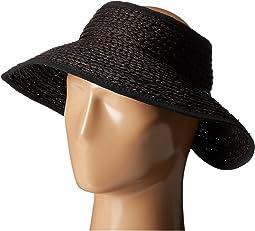 San Diego Hat Company RHV1505 Raffia Roll Up Visor with Velcro Closure