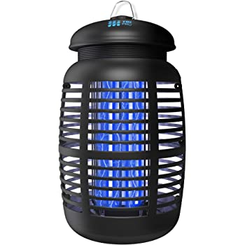 TBI Pro Bug Zapper for Outdoor & Attractant - Effective 4000V Electric Mosquito Zappers Killer - Insect Fly Trap, Waterproof Indoor - Electronic Light Bulb Lamp for Backyard, Patio - 1 Acre, Large