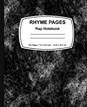Rhyme Pages: Rap Notebook: 100 Page Edition