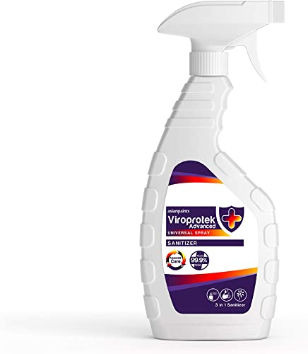 Asian Paints Viroprotek Advanced Universal 3 in 1 Spray Sanitizer Kills 99 9 Germs Safe on Skin Sanitizes Areas Deodorizing Fresh Fragrance 500 ml