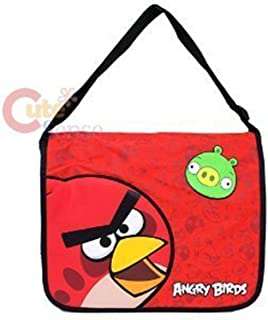 Red Angry Birds Green Pig Large Messenger Bag gym Tote purse