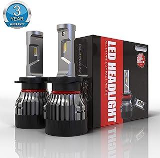 Bombilla H7 LED Coche, 10000LM Faros Delanteros Luces Lámparas para Coche y Moto, Reemplazo para Halógena y Kit Xenón, 12V, 6500K blanco, 3 Años De Garantía