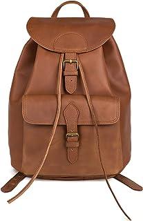 """Nama """"Janis"""" Rucksack für Damen und Herren Backpack Vintage Beutel Echtes Leder Tagesrucksack Schultertasche Lederrucksack Unitasche"""