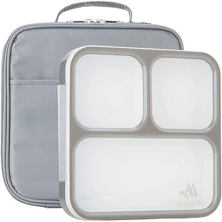 Modetro Bento Lunch Box Isotherme - Boîte Repas avec 3 Compartiments Étanches - Boîte Bento Japonais Enfants et Adultes