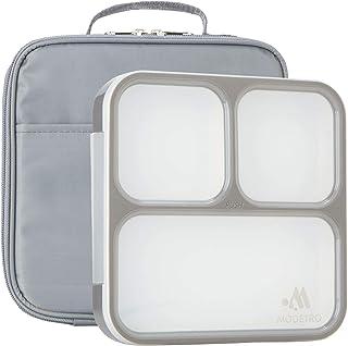 Boite à lunch de Bento - 3 compartiments étanches - comprend un sac isotherme - Ultra Mince Conteneur De Boite - Boite à l...
