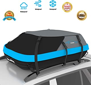 STDY 20 Cubic Feet Rooftop Cargo Top Carrier Bag,Travel Cargo Bag Box Storage Luggage by Waterproof 1200-Denier Polyester Material-with Easy to Install Straps-Soft Shell Luggage Rack Bag (20 cubic)