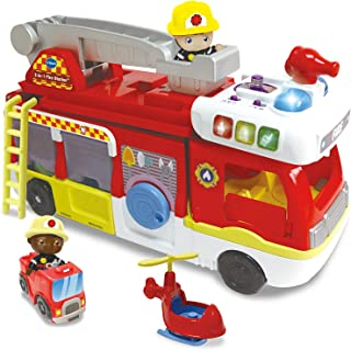 VTech Toot-Toot Friends 2-in-1 Fire Station, Toy Kids Car with Sounds and Phrases, Baby Music Toy for Role-Play Fun, Imaginative Learning Games for Boys and Girls Aged 12 Months +