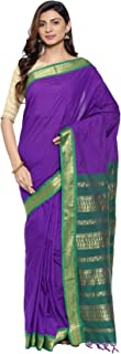 Classicate From The House Of The Chennai Silks - Kalyani Cotton Saree With Running Blouse (CCOPFA9629 - Purple - Free Size)