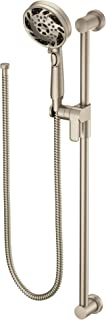 Moen 3670EPBN 5-Function Massaging Handshower with Toggle Pause, Includes 30-Inch Slide Bar and 69-Inch Hose, Brushed Nickel
