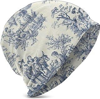 LREFON Toile De Jouy Pattern Kids Casual Beanie Hat Invierno Warm Knit Ski Beanies Skull Cap