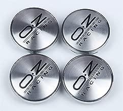 4Pcs 60mm Car O.Z Black Sports Racing Wheel Center Caps Hub Caps Emblems Badges