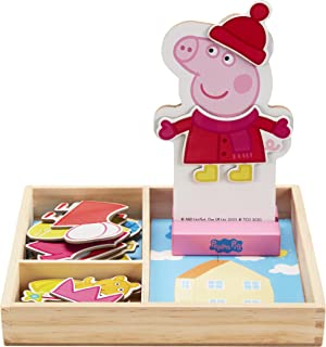 Peppa Pig Magnetic Wood Dress Up Puzzle (25 Piece)