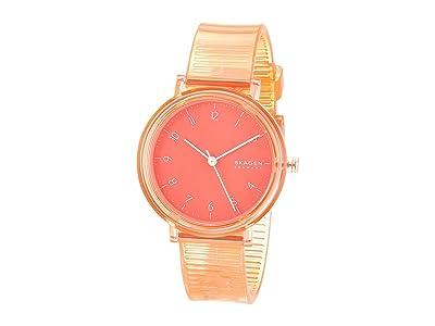 Skagen Aaren Transparent Three-Hand Watch (SKW2856 Coral Silicone) Watches