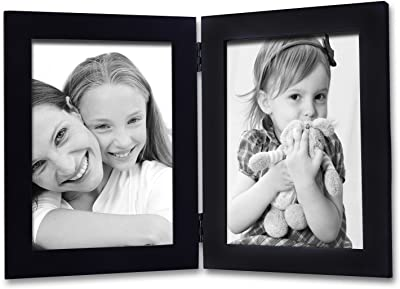 Deco De Ville 2 Opening 5x7 Inches, wood Decorative Puzzle Collage Picture Photo Frame,