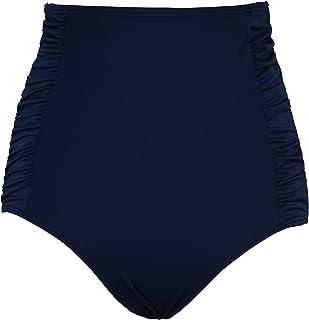 b3d9f997810eb Septangle Women s Vintage High Waisted Bikini Bottom Shirred Tankini Briefs