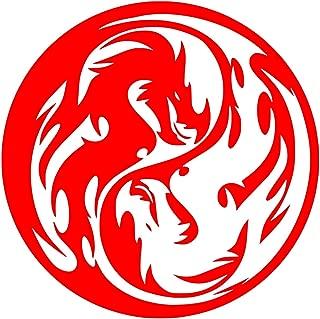 UR Impressions Red Tribal Dragon Yin Yang Decal Vinyl Sticker Graphics Car Truck SUV Van Wall Window Laptop RED 5.5 Inch URI408-R