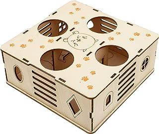 POPETPOP Drewniany Chomik Labirynt Chomika Labirynt Puzzle Zabawki Chomika Kryjówki Tunel Zwierzęta Domowe Są Chomik Zabawka