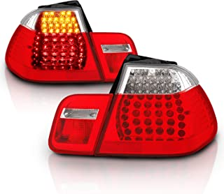 AmeriLite 4 Door L.E.D Replacement Taillights Red/Clear 4Pcs Set for BMW 3 Series E46 - Passenger and Driver Side