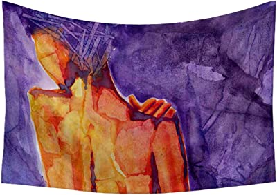Artzfolio Figure of A Woman Satin Tapestry Wall Hanging 25.5 X 18Inch