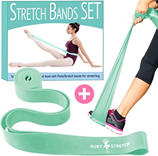 Stretch Bands Set - Exercise Resistance Bands for Dance and Ballet - 2 Resistance Bands for Stretching, Dance and Gymnastics – Gift Box + Instructions + Travel Bag