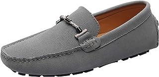 Jamron Heren Elegant Loafers met Gesp Comfort Suède Rijschoenen Stijlvol Mocassin Slippers