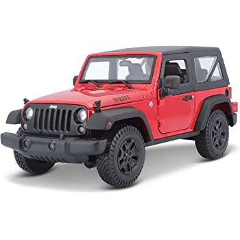 Buy Maisto Jeep Wrangler Toy 2014 1 18 Red Online At Low Prices In India Amazon In