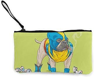 Make Up Bag DH14hjsdDEE USA Sugar Skull Zipper Canvas Coin Purse Wallet Cellphone Bag With Handle