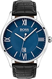 Hugo Boss Men's Blue Dial Leather Band Watch - 1513553