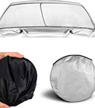 Sun Shade Windshield (EZ Install, EZ FOLD, EZ Store) Fold-able Dash Protector UV hot Cold Summer Winter Sunshade Window