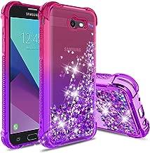 Topamz-Samsung Galaxy j7 2017 Case,Galaxy J7 Sky Pro/ J7 V J7V 2017/ J7 Prime/ J7 Perx Glitter Case,Gradient Quicksand Series [Shock Absorption TPU Bumper Cushion] Bling Liquid Protective Case-Teal