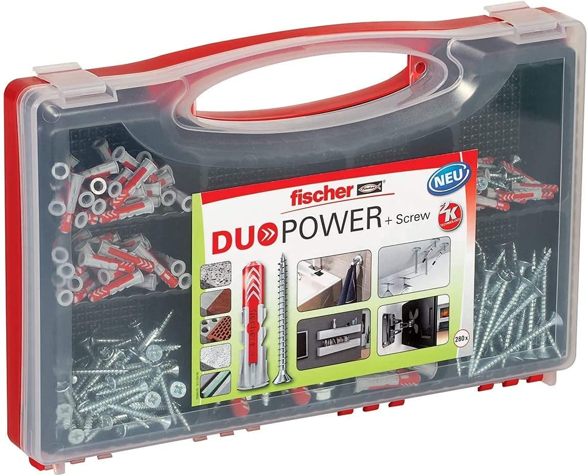 High quality new Fischer Redbox service Duopower 140 Wall Full for Plugs Screw with
