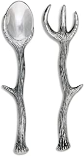 Arthur Court Designs 13.25 inch Long Antler Aluminum Serving Set