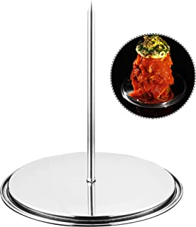 GriAddict Brazilian BBQ Skewers Hack, Al Pastor Stick - Gyro Spit Shawarma Stand for Oven - Stainless Removable Skewers Ra...