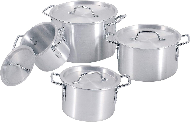 Uniware Heavy Gauge Sales results No. 1 Max 66% OFF Aluminum Sauce Pot 8 2 Pcs 3.5 Set 5.5