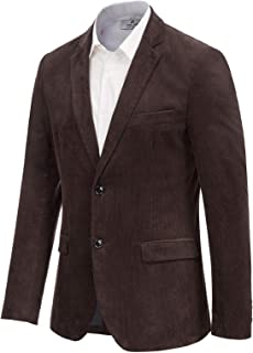 Paul Jones Men's Corduroy Casual Sport Coat Jacket Slim Fit 2 Button Blazer
