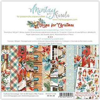 Mintay Papers 6x6 Home for Christmas Scrapbooking Paper pad
