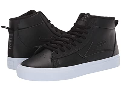 Lakai Newport Hi (Black Leather) Men