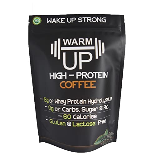 New! WarmUp Coffee Protein Powder, Made with Real Espresso, Rich & Bold Taste