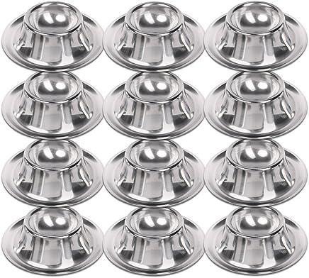 Preisvergleich für Schramm® 12 Stück Edelstahl Eierbecher poliert stapelbar 12 Eier Becher Egg Cup Eierständer Ständer 12 Personen Gastro Qualität 12er Pack