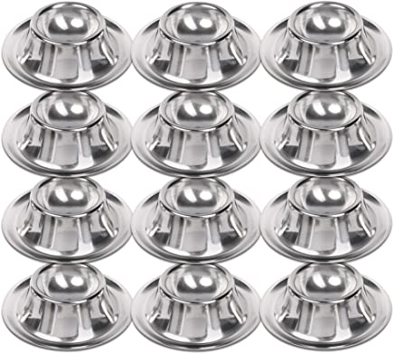 Schramm® 12 Stück Edelstahl Eierbecher poliert stapelbar 12 Eier Becher Egg Cup Eierständer Ständer 12 Personen Gastro Qualität 12er Pack - preisvergleich