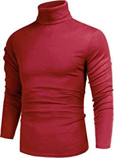 Sponsored Ad - poriff Men's Casual Slim Fit Basic Tops Knitted Thermal Turtleneck Pullover Sweater